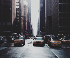 city and taxi image