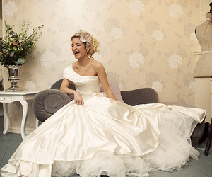 beautiful, bride, and laughter image