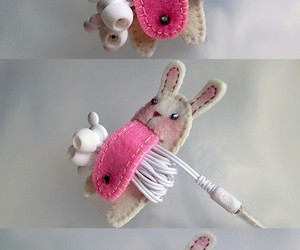 diy, rabbit, and headphones image