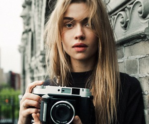 girl, camera, and model image