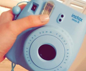 blue, camera, and gift image