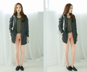 brown hair, casual, and fashion image