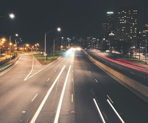 city, grunge, and ligths image