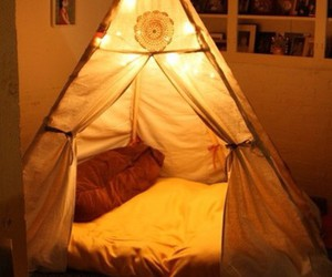 light, tent, and bed image