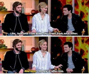 Jennifer Lawrence, josh hutcherson, and liam hemsworth image