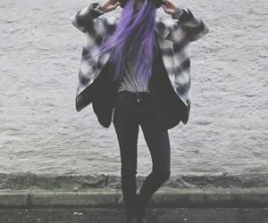 grunge, purple, and hair image