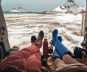 beach, cozy, and hunters image