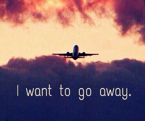 travel, away, and fly image