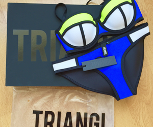 triangl, summer, and blue image