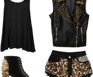 fashion, outfit, and animal print image