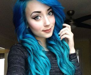 alt girl, blue hair, and site model image