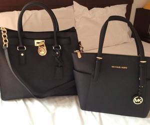 bag, black, and Michael Kors image