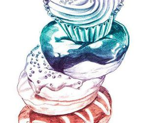 cupcake, donuts, and illustration image