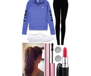 black, fashion, and leggings image
