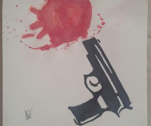 draw, life, and revolver image
