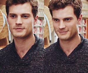 christian grey, Jamie Dornan, and fifty shades of grey image
