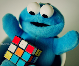 blue, cookiemonster, and rubix image