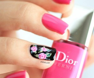 nails, pink, and dior image