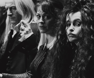 harry potter, lucius malfoy, and bellatrix image