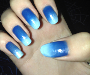 blue, ombre, and nail art image