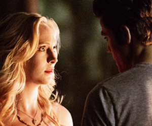 caroline, stefan, and the vampire diaries image