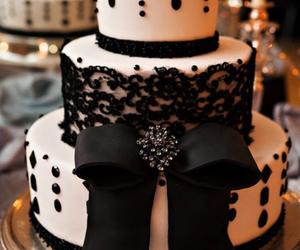 cake, black, and wedding image