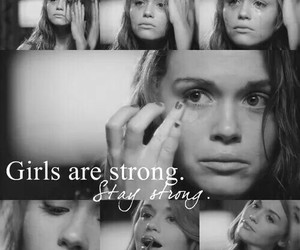 girl, strong, and sad image