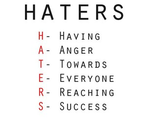 haters, anger, and quote image