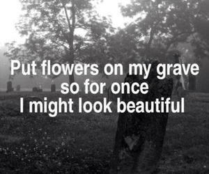 grave, flowers, and beautiful image