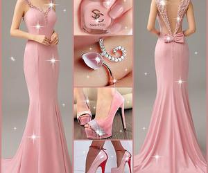 dress, high heels, and glamour image