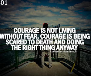 quote, courage, and quotation image