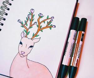 art, beautiful, and draw image