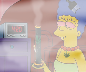 weed, 420, and simpsons image