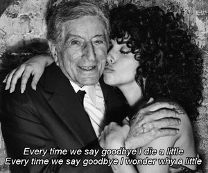 Lady gaga, suicide text, and ev'ry time we say goodbye image