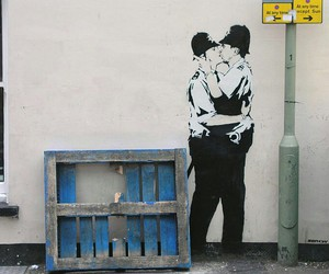 BANKSY, art, and gay image