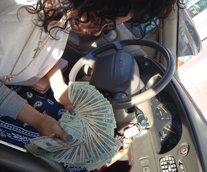 money, car, and hair image