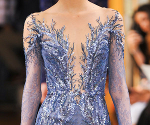 blue, Couture, and elegant image