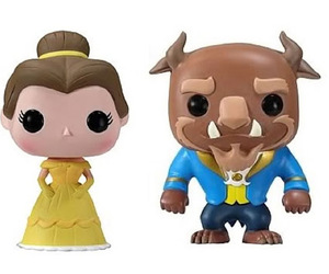 beauty and the beast, disney, and funko pop image