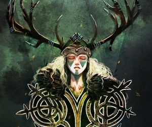 antlers, celtic, and painting image