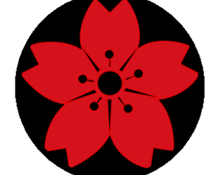 naruto, red and black, and sakura image