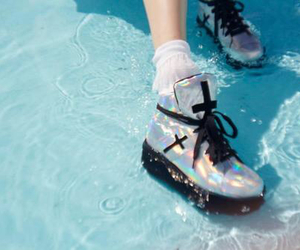 shoes, grunge, and water image