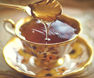 tea, honey, and cup image