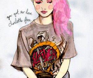 pink, slayer, and art image