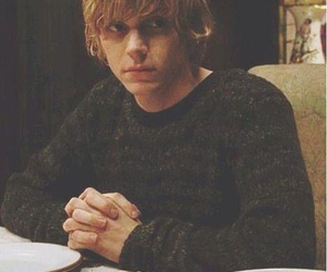 evan peters, american horror story, and tate image