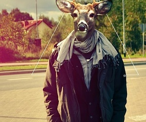 hipster, style hipster, and animal on human body image