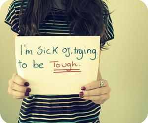 tough and girl image