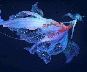 anime girl, jellyfish, and sea image