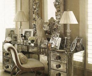 vanity, interior, and mirror image