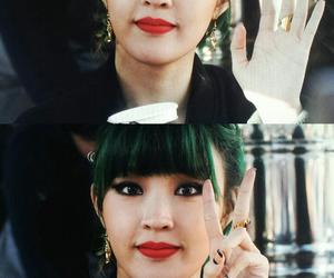 beauiful, girl, and green hair image