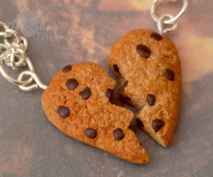 Cookies, heart, and necklace image
